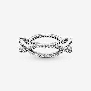 PANDORA Crossing Bands Ring